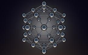 Picture balls, background, design, model, atom