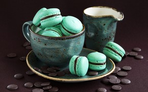Picture chocolate, colorful, cookies, Cup, dessert, sweet, dessert, cookies, macaron, macaron