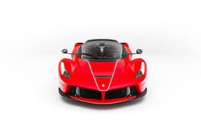 Picture Ferrari, Front, White, Scuderia, RED, LaFerrari, Backgraund