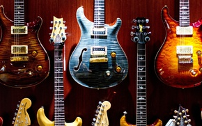 Picture music, colorful, Guitars, musical instruments, electric guitars