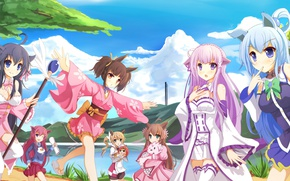 Picture kawaii, girl, sky, woman, anime, cloud, crossover, asian, Ram, japanese, oriental, asiatic, sugoi, subarashii, moe, …