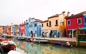 Wallpaper Home, Street, Channel, Boats, Italy, Venice, Italy, Street, Venice, Italia, Venice, Canal, Burano, Burano