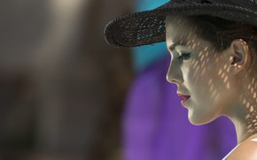Picture hat, shadows, female