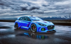 Picture Concept, the sky, clouds, Hyundai, track, RN30