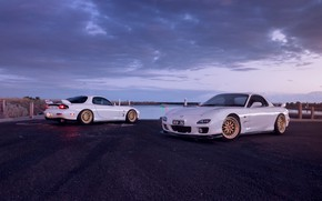 Wallpaper Mazda, Cars, White, RX-7, Sport