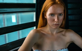 Picture the beauty, redhead, Alina Teslya, wesnousky