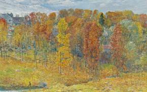 Picture landscape, picture, Autumn, Frederick Childe Hassam, Childe Hassam