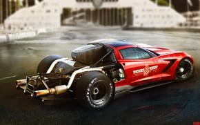 Picture Red, Auto, Corvette, Machine, Car, Art, Art, The Corvette Z06, Yasid Design, Yasid Oozeear, YASIDDESIGN, …