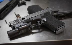 Wallpaper macro, flashlight, gun