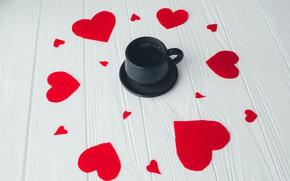 Picture love, Coffee, hearts