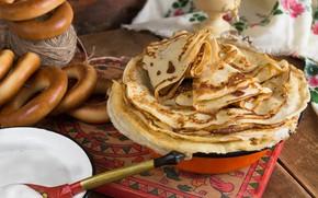 Wallpaper pancakes, drying, sour cream, Carnival