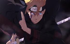 Picture look, anime, art, guy, Naruto, print, Boruto