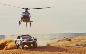 Wallpaper Peugeot 3008 DKR, Red Bull, Sport, Speed, Sport, DKR, Lights, 3008, Rally, Race, Helicopter, Rally, ...