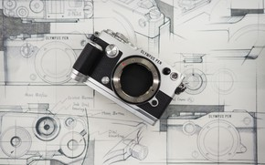 Picture design, background, the camera, olympus