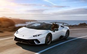 Picture coast, Lamborghini, Spyder, 2018, Performante, Huracan