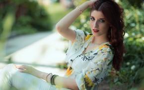 Picture summer, look, model, Martina Cecilia