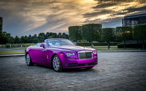 Wallpaper Luxury, Rolls-Royce, chic, Cabriolet, trees, the evening, auto, the sky