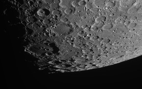 Picture surface, the moon, craters