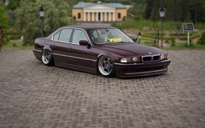 Wallpaper car, bmw, BMW, tuning, e38, stance, 7 series, E38