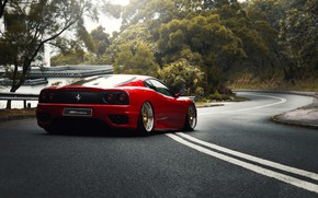 Wallpaper Red, Auto, Road, Machine, Ferrari, Asphalt, 360, Supercar, Modena, Ferrari 360, Suspension, Ferrari Modena 360