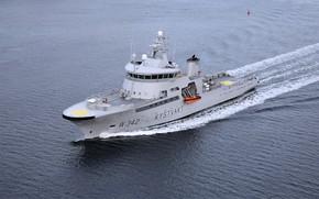 Picture sea, the coast guard, border ship