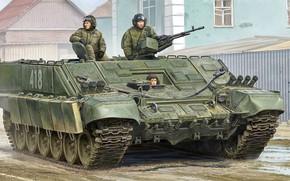 Wallpaper art, Russian, BMO-T, Fighting machine flamethrower-heavy, Heavy flamethrower personnel carrier, russian, figure
