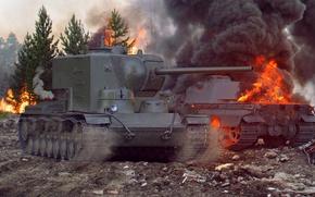 Picture tank, art, world of tanks, wot, tank, wotart, anderarts, kv-5, kV-5