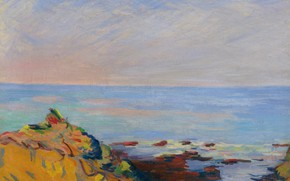 Picture sea, landscape, picture, Arman Hyomin, Armand Guillaumin, Saint-Palais. The Coast