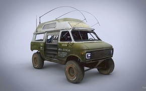 Wallpaper trophy van, Racing Ice Cream Van, Chevrolet G20