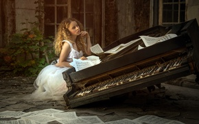 Wallpaper notes, music, piano, Karina Bratkowska