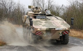 Picture weapon, armored, boxer, military vehicle, armored vehicle, armed forces, military power, war materiel, 085