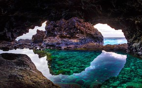 Picture rocks, stone, cave, Spain, Canary Islands, the island of El Hierro