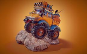 Picture art, machine, children's, catfish laitinen, Mighty truck - Happy Camper
