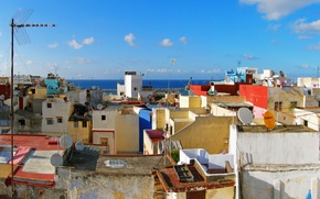 Picture Home, Roof, Morocco, Morocco, Tangier, Tangier, Strait of Gibraltar, The Strait of Gibraltar