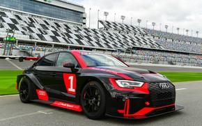 Picture Audi, Audi, black, Black, LMS, stadium, RS 3