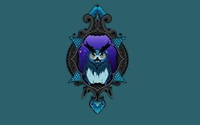 Wallpaper owl, bird, owl, minimalism