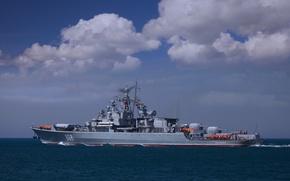 Picture sea, ship, Black, guard, Inquisitive