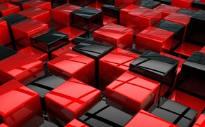 Wallpaper red, cubes, black, texture