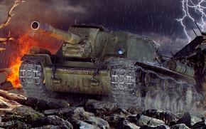 Picture tank, art, world of tanks, wot, tank, su-152, wotart, anderarts, sy-152