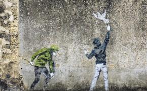 Picture wall, figure, graffiti