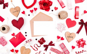 Wallpaper red, Valentine's Day, romance, hearts, hearts, love, gift, romantic, love, decoration