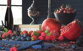 Picture summer, rendering, harvest, fruit, still life
