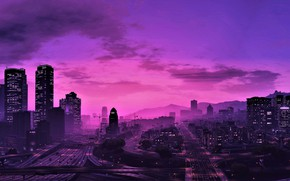 Picture city, game, sky, Grand Theft Auto V, GTA V, GTA 5