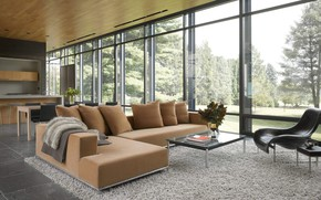 Picture Villa, interior, living room, Dangle Byrd House