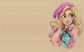 Wallpaper Instagram 10k giveaway drawing, beret, portrait, Kellee Riley, pencil, art, blonde, figure, bow, girl