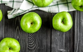 Picture apples, green, fruit, vitamins