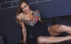 Picture model, tattoo, look, pose, Fitness, Nikki Leonard Shredz