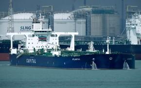 Wallpaper ship, terminal, a liquefied gas carrier, port