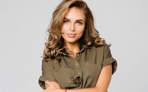 Picture look, girl, face, photo, sweetheart, hair, portrait, makeup, shirt, beauty, Hanna, Anna Ivanova