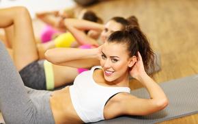 Wallpaper workout, abs, fitness